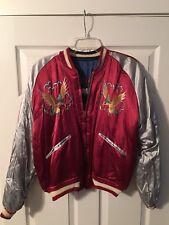 vintage silk reversible souvenir Bomber Jacket Japan