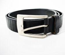 REDGREEN Mens Leather Belt Large Size 38 Black