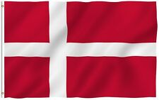 Anley Danish Flag National Banner Polyester 3x5 Foot Country Denmark Flags