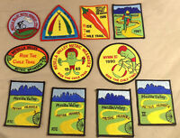 Bike Ride Patch Mesilla Valley Metric Meander Sew On Patch 11 Piece Lot Bicycle