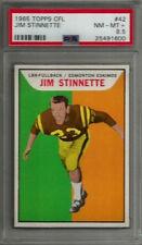 1965 Topps CFL #42 Jim Stinnette PSA 8.5 NM-MT+ Edmonton Eskimos Football Card
