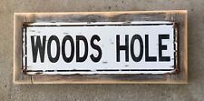 Woods Hole Falmouth Cape Cod Ocean Vintage Framed Street Style Sign Home Decor