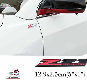 "5"" 1pcs Z71 Off-Road Rear Trunk Emblem Door Fender Sport Badge for GMC Chevy Red"