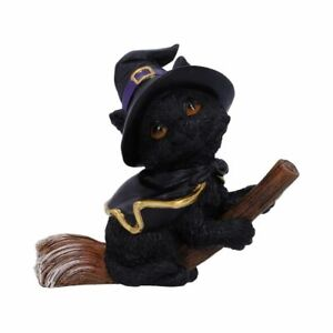 Tabitha Small Witches Familiar Black Cat and Broomstick Figurine 11cm New