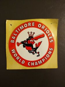"Baltimore Orioles Vintage 3"" WORLD CHAMPIONS 1966 World Series Sticker Decal"