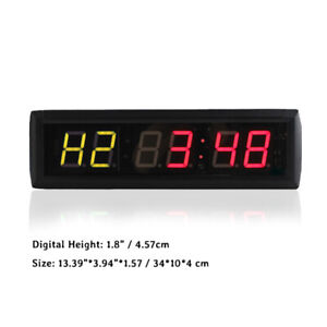 Gym Interval Wall Timer Digital Crossfit Fitness Clock Workout Timer Countdoown