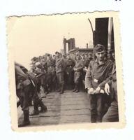 Foto 2.WK  deutsche   Soldaten  Hafen Schiff 1940 Wehrmacht WW2 E17