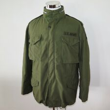 VINTAGE VIETNAM US ARMY M-65 M65 FIELD JACKET 1970 LARGE LONG ALPHA TANK PATCH