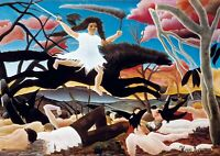 Henri Rousseau - Large A2 size Deco Canvas Wall Art Print Poster Unframed