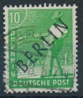 """351902) Berlin Nr.4 gest. mit PLF III """"Mittelsteg des B vom Berlin gebrochen"""""""