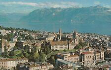 AK Lausanne - Gesamtansicht mit Genfer See und Alpen