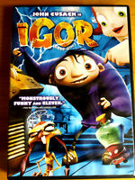 Igor (DVD, 2009, Canadian John Cusack kids movie entertaiinment film John Cleese