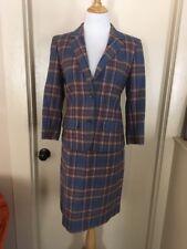 Vintage 70s Euc Pendleton 2 piece lined pink blue plaid blazer Skirt Wool 10 Usa