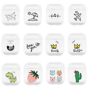 For Apple AirPods 1 2 Charging Case Pictorial Fruit Earphone Cover Case