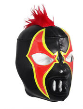 CRAZY CLOWN Lucha Libre Wrestling Mask (pro-fit) Black/Red