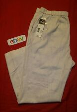 NEW NWT ! Requirements flax Linen BLEND Women sz 18 PULL ON Pants Elastic WAIST