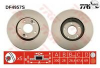 TRW BRAKE DISC (SINGLE) - DF4957S |Next working day to UK