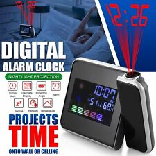 NEW Kids Digital Clock Alarm LED Time Projection Temperature Weather LCD Display