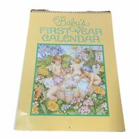 """Baby's First Year Calendar by Current 12"""" x 9"""" Sticker Page Fairies"""