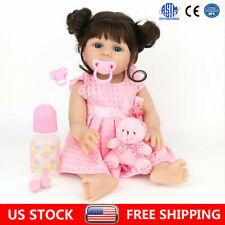 Reborn Baby Dolls Full Body Vinyl Silicone 18'' Lifelike Doll Handmade Xmas Gift