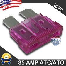 25 Pack 35 AMP ATC/ATO STANDARD Regular FUSE BLADE 35A CAR TRUCK BOAT MARINE RV