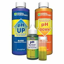 General Hydroponics pH Control Test Kit - GH 8 oz Up Down + Free Pipette
