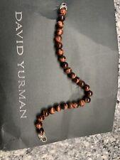 David Yurman  mens beaded bracelet (fits 8.5 Inches) Red Tiger's Eye