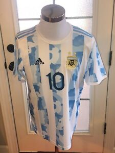 Argentina #10 Lionel Messi Adidas Authentic Home Jersey
