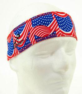 Headsweats Eventure Reversible Headband, USA Flag/Red