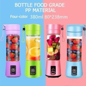 AU Portable USB Electric Fruit Juicer Smoothie Maker Blender Bottle Juice Shaker