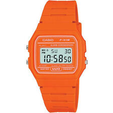 Unisex Orange Casio Retro Digital Watch F-91wc-4a2ef