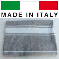 GENUINE ITALIAN MILITARY POLICE 100% WOOL BLANKET THROW ARMY MADE IN ITALY NOS