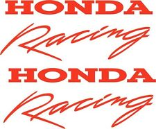 HONDA RACING DECALS X 2  RED 300 x 120mm