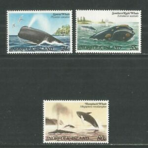 Norfolk Island 1982 Local Whales--Attractive Marine Life Topical (290-92) MNH