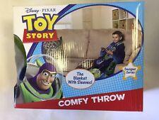 Disney Toy Story Blanket Throw Buzz Woody Aliens Trex Fun Comfortable Sleeves