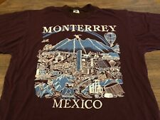 Monterrey Mexico City View Famous Landmarks Dark Red XL T Shirt