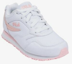 FILA CLASSICO 18 LOW TRAINER SPORTS SNEAKERS WOMEN SHOES WHITE/PINK SIZE 9.5 NEW