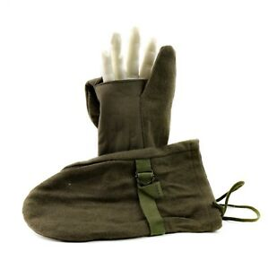 Original Austrian army sniper mittens shooting trigger military gloves wool OD