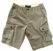 "American Eagle Mens Cargo Shorts Grey Combat Walk Shorts Sale 28' 30' 32"" 33"""