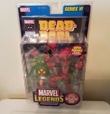 TOY BIZ MARVEL LEGENDS SERIES VI DEAD-POOL WITH DOOP AND DISPLAY STAND