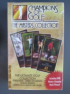 UNOPENED BOX 1998 CHAMPIONS of GOLF with TIGER WOODS MASTER'S COLLECTION ROOKIE