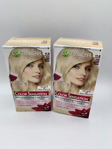 2pc Garnier Color Sensation Extra Light Natural Blonde 11.0 Hair Color Dye