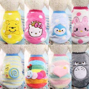 Small Cute Dog Clothes Soft Vest Pet Puppy Hoodie Cat Clothing Pajamas XS-XL