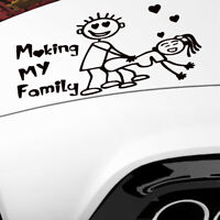 Funny Body Door Fender Rear Car Accessories Trunk Making My Familly Sticker Hot