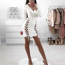 Women Sexy Summer Bandage Bodycon Evening Party Cocktail Club Short Mini Dress