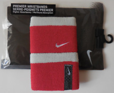 Nike Premier Wristbands Tennis Varsity Red/Grey/White Mens Women's Osfm
