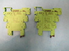 Phoenix Contact Terminal Block PLC-BSC-12DC/21 *Set Of 2* New Surplus