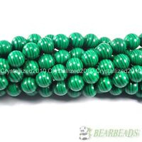 Synthetic Malachite Gemstone Round Spacer Loose Beads  4mm 6mm 8mm 10mm 12mm 16""