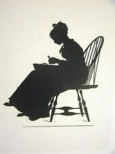 Winslow Homer 1874 SILHOUETTE of a YOUNG GIRL from COURTIN' Art Print Matted