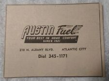 1964 Austin Fuel Atlantic City New Jersey Advertisement